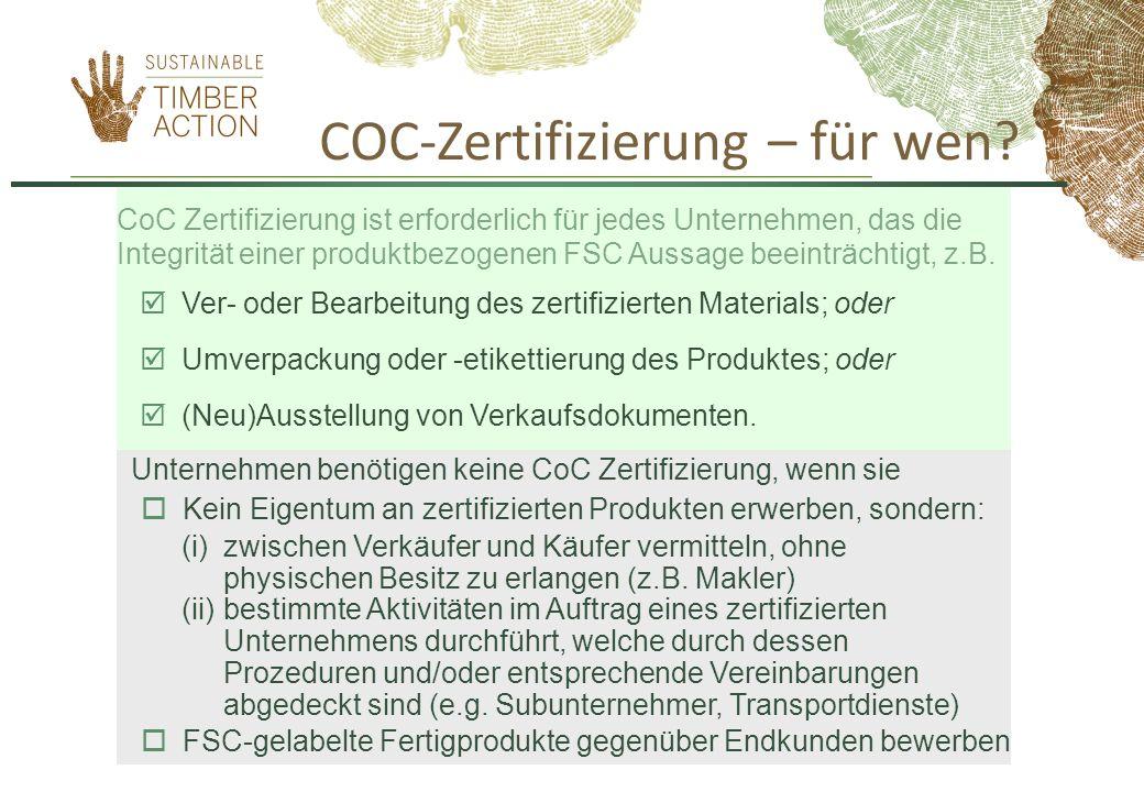 COC-Zertifizierung – für wen