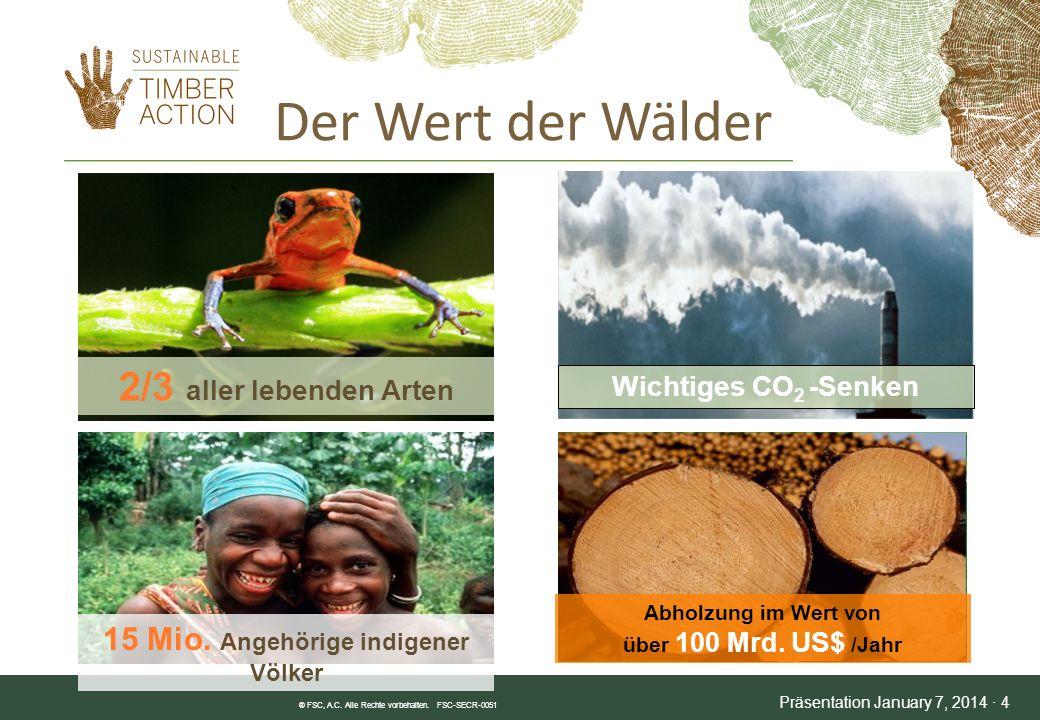 Der Wert der Wälder 2/3 aller lebenden Arten