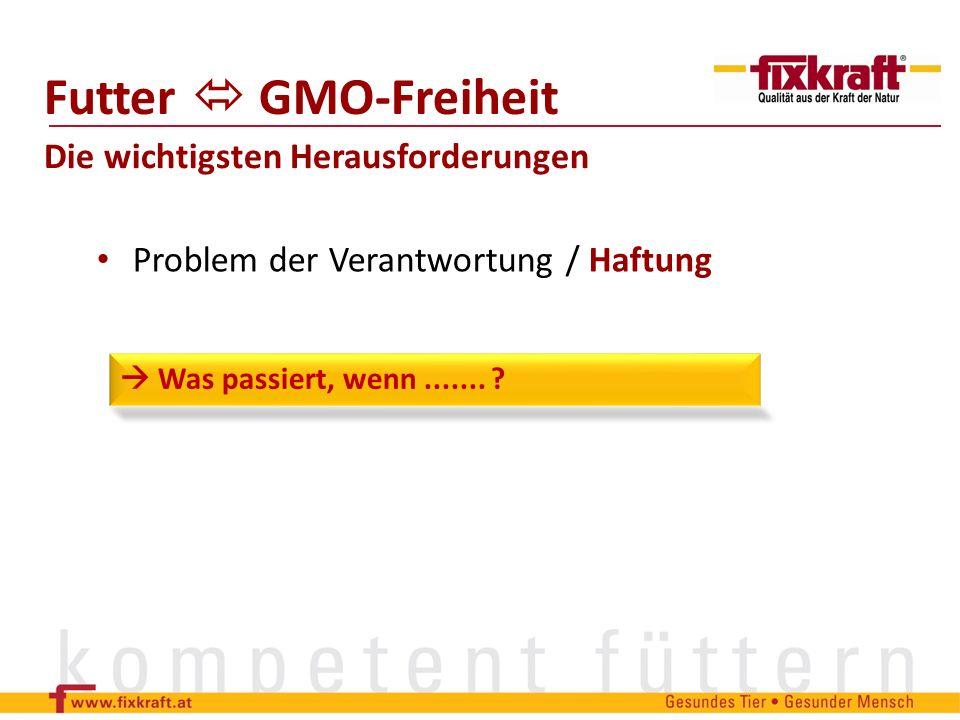 Futter  GMO-Freiheit Die wichtigsten Herausforderungen