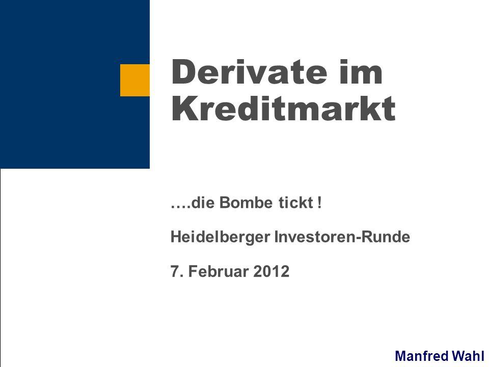 Derivate im Kreditmarkt