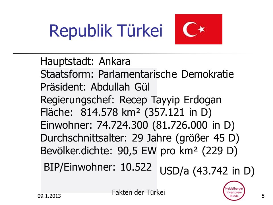 Republik Türkei Hauptstadt: Ankara