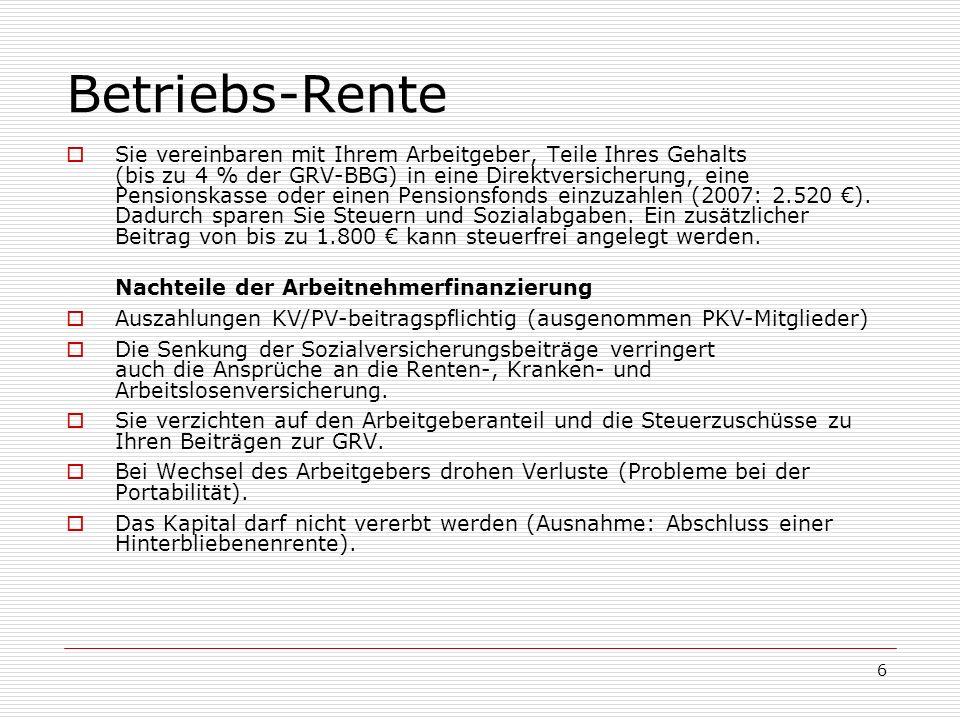 Betriebs-Rente
