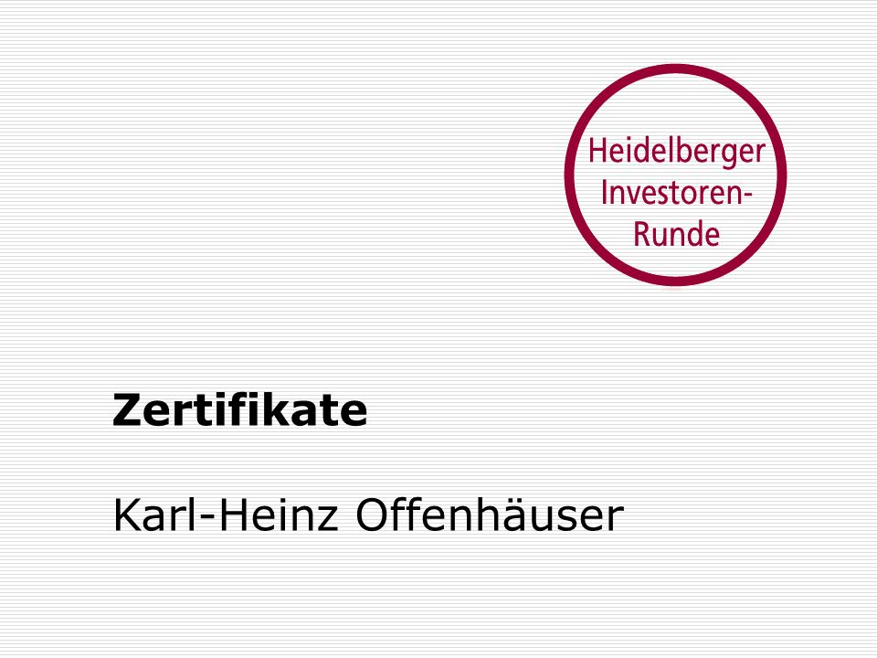 Zertifikate Karl-Heinz Offenhäuser