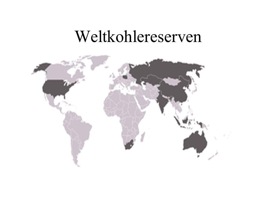 Weltkohlereserven