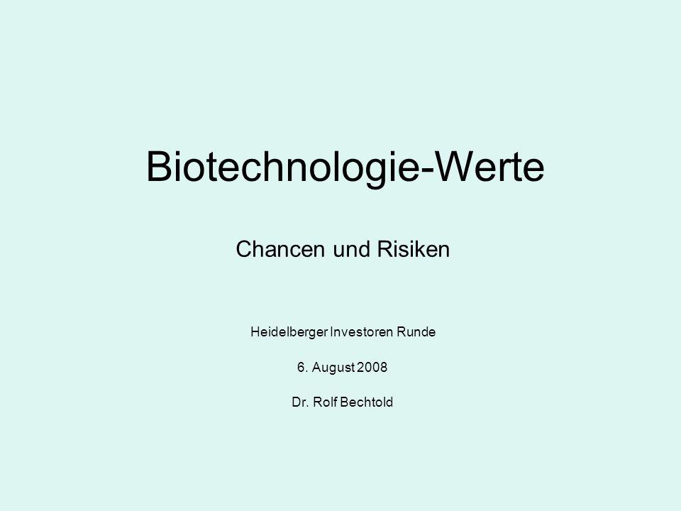 Biotechnologie-Werte