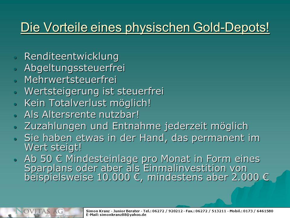 Die Vorteile eines physischen Gold-Depots!
