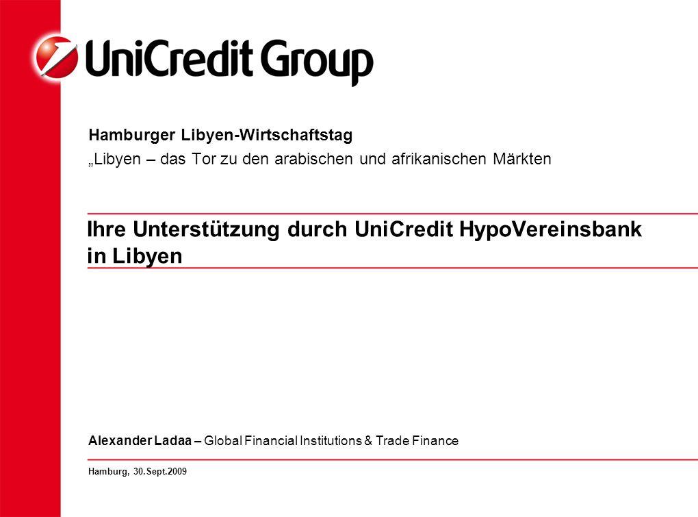 Ihre Unterstützung durch UniCredit HypoVereinsbank in Libyen