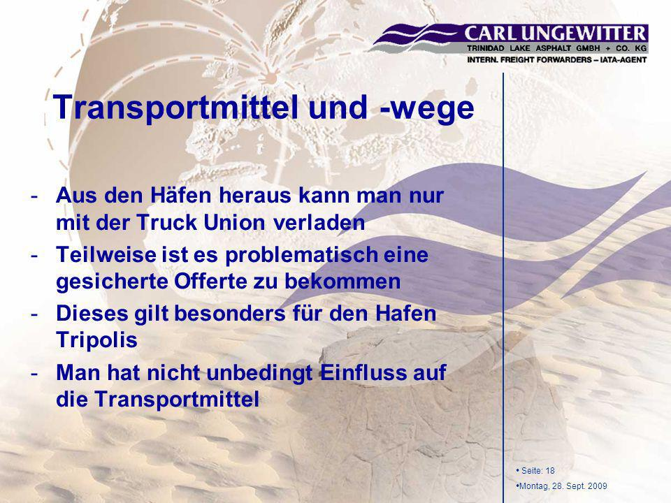 Transportmittel und -wege