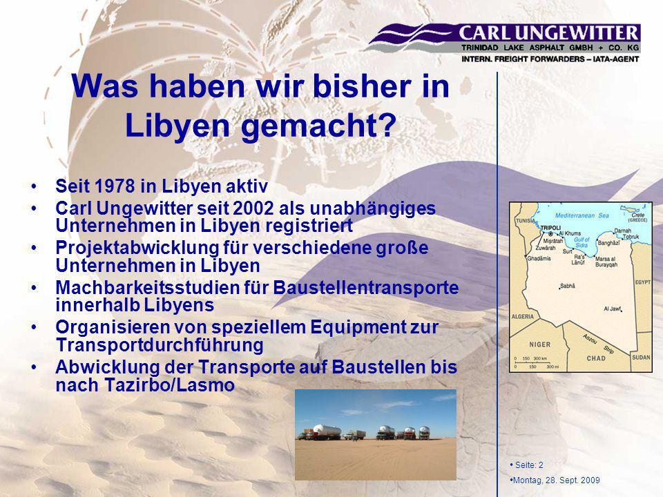 Was haben wir bisher in Libyen gemacht