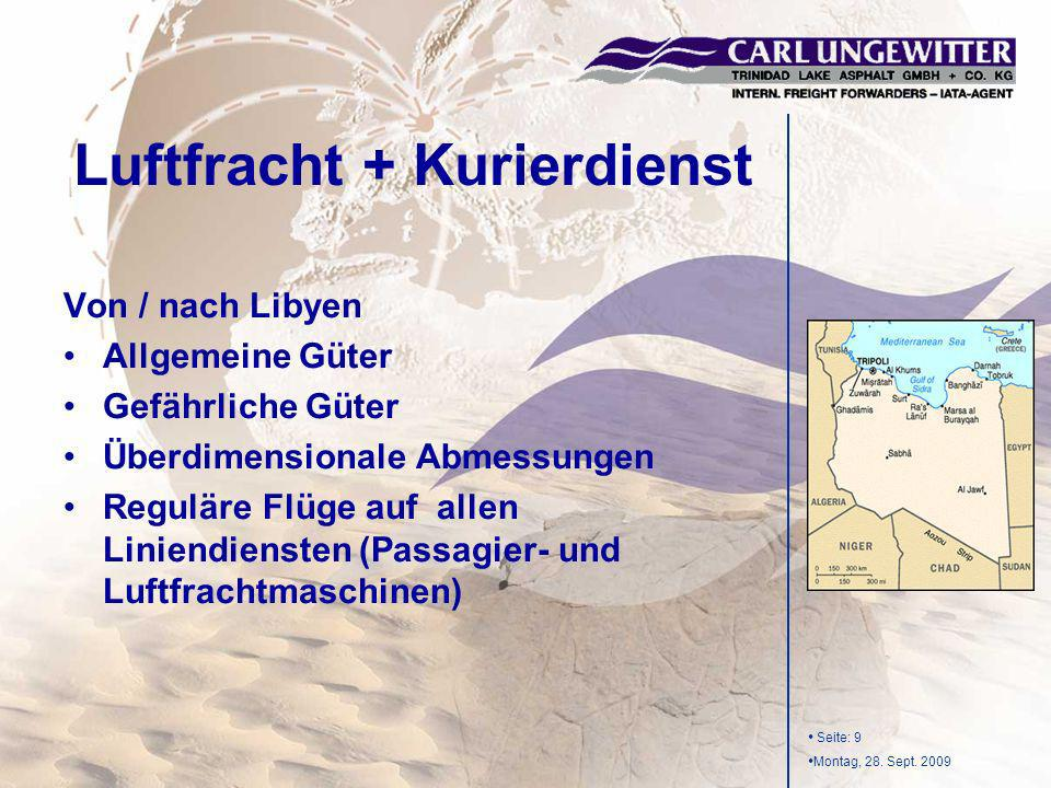 Luftfracht + Kurierdienst