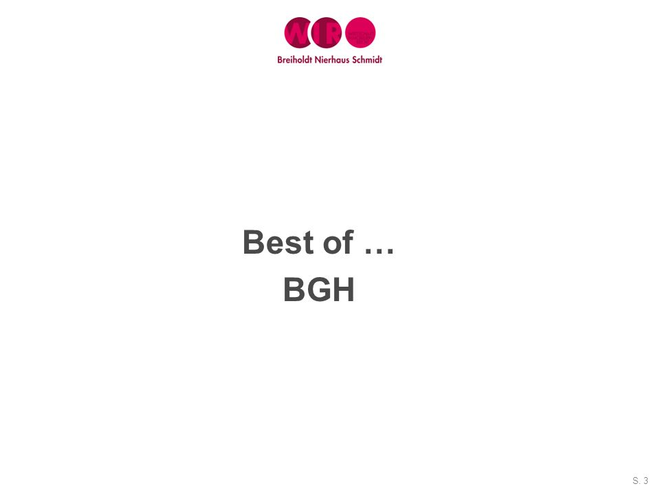 Best of … BGH