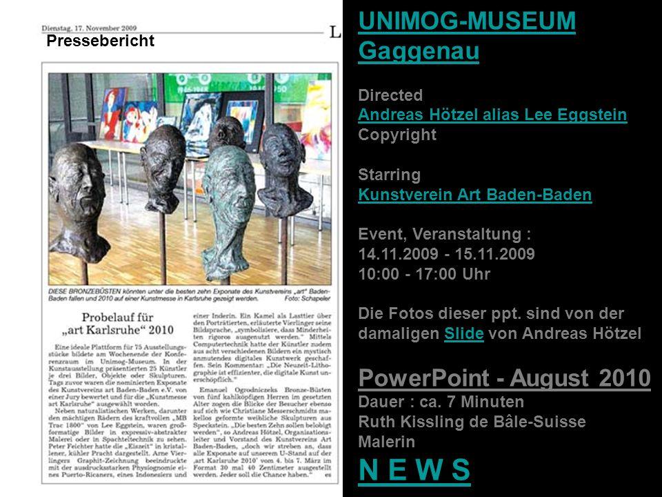 UNIMOG-MUSEUM Gaggenau PowerPoint - August 2010 Pressebericht Directed