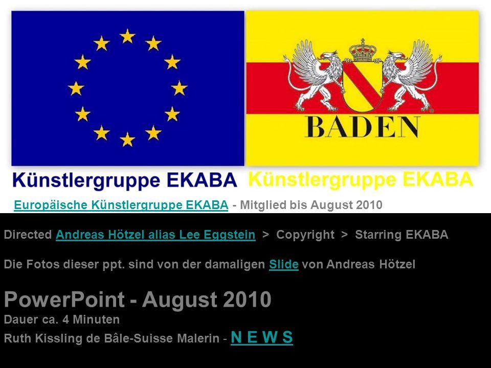 Europäische Künstlergruppe EKABA - Mitglied bis August 2010