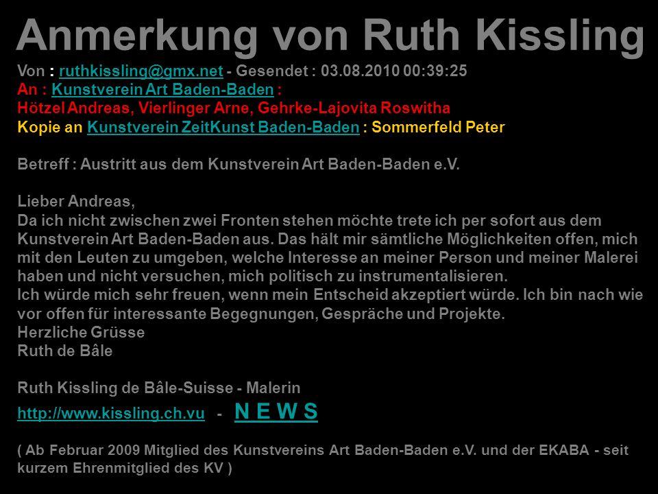 Anmerkung von Ruth Kissling
