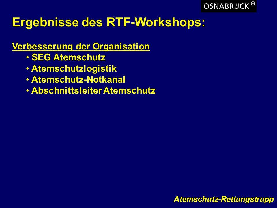 Ergebnisse des RTF-Workshops: