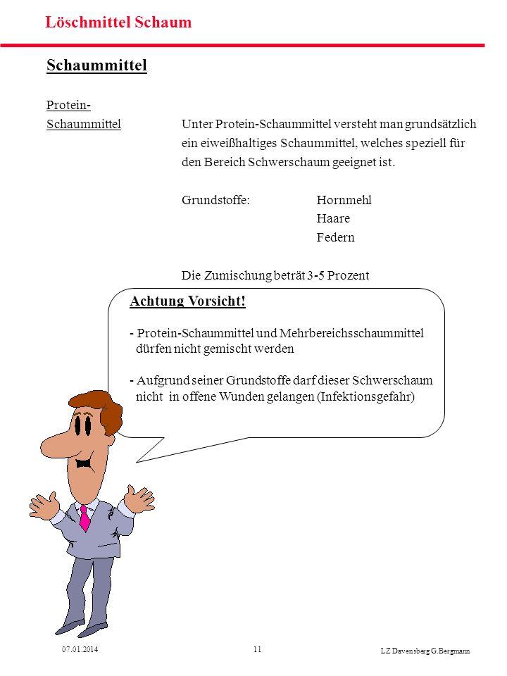 Löschmittel Schaum Schaummittel Achtung Vorsicht! Protein-
