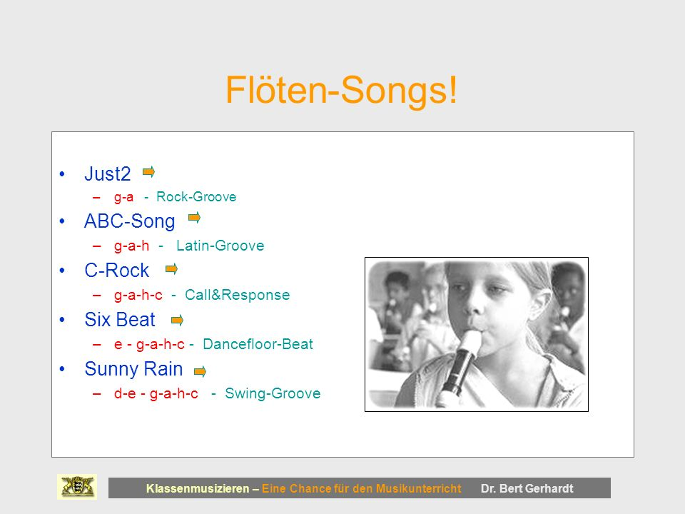 Flöten-Songs! Just2 ABC-Song C-Rock Six Beat Sunny Rain