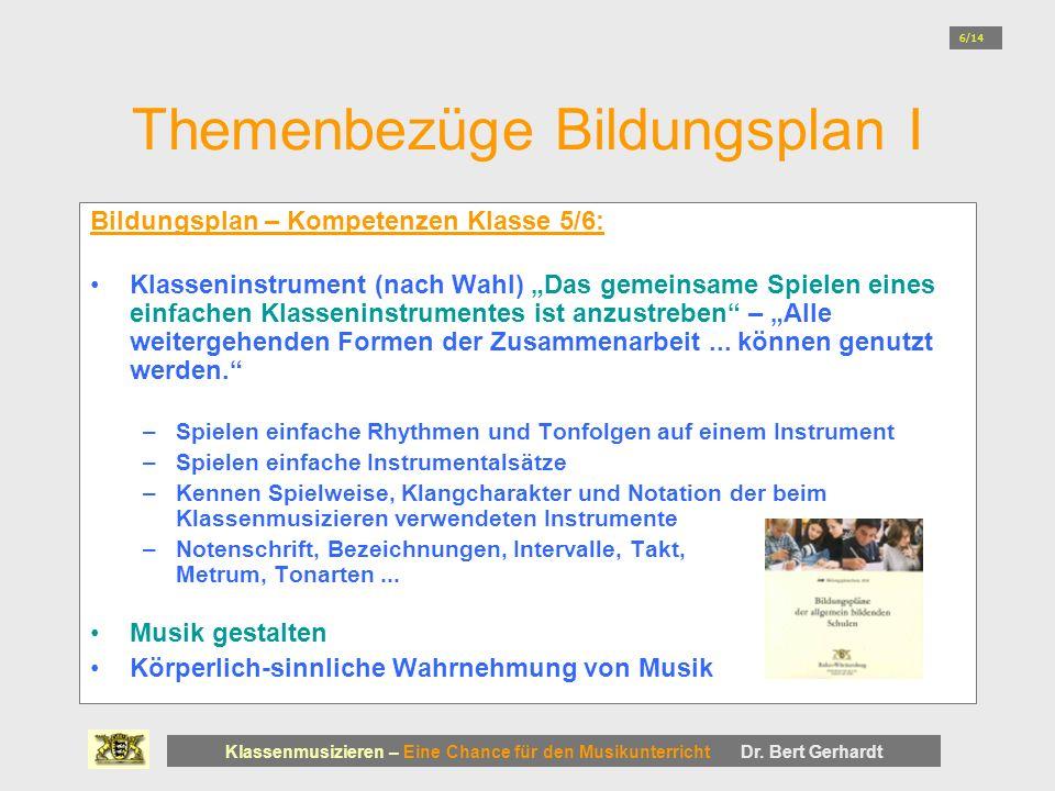 Themenbezüge Bildungsplan I