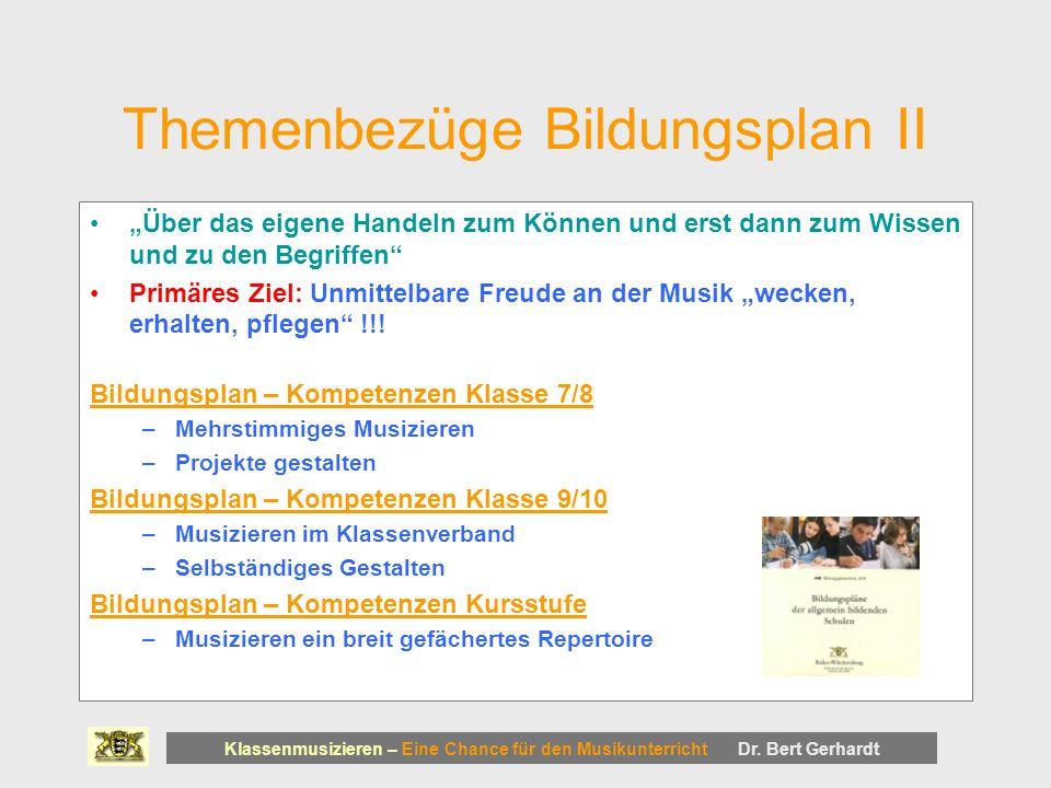 Themenbezüge Bildungsplan II