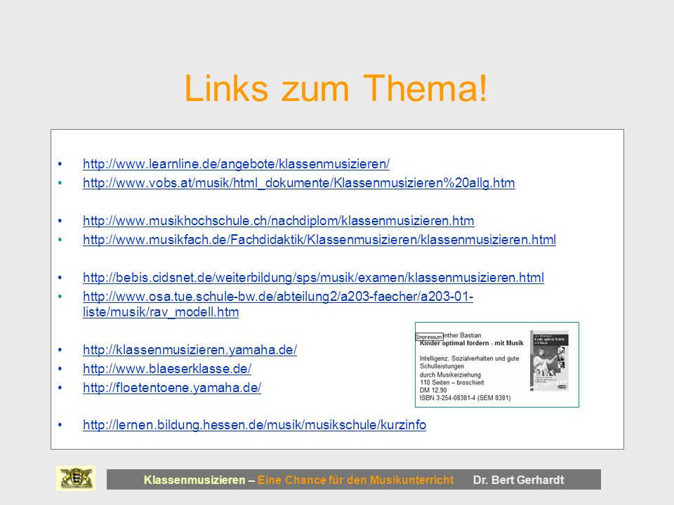 Links zum Thema!