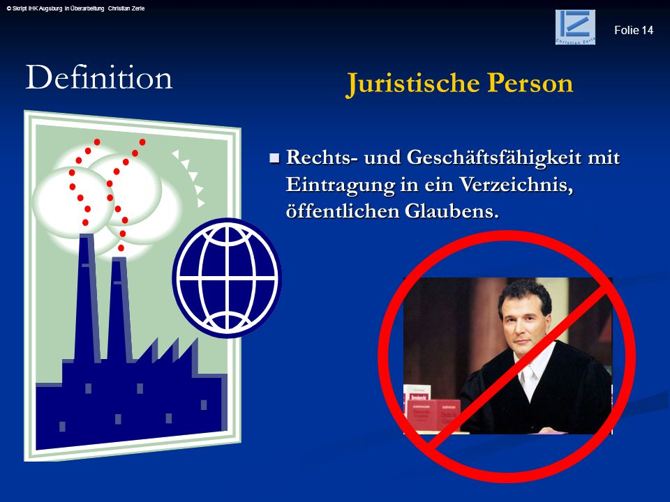 Definition Juristische Person
