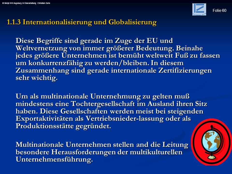 1.1.3 Internationalisierung und Globalisierung