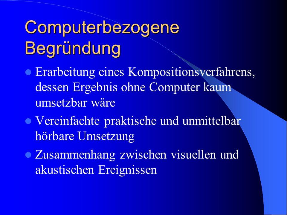 Computerbezogene Begründung