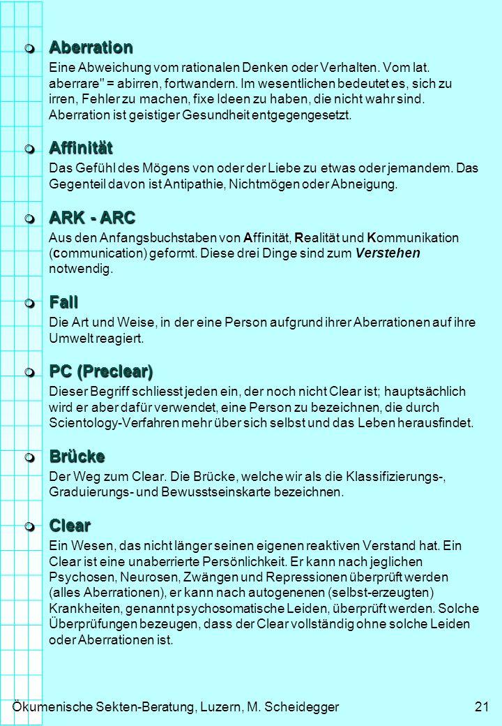 Aberration Affinität ARK - ARC Fall PC (Preclear) Brücke Clear