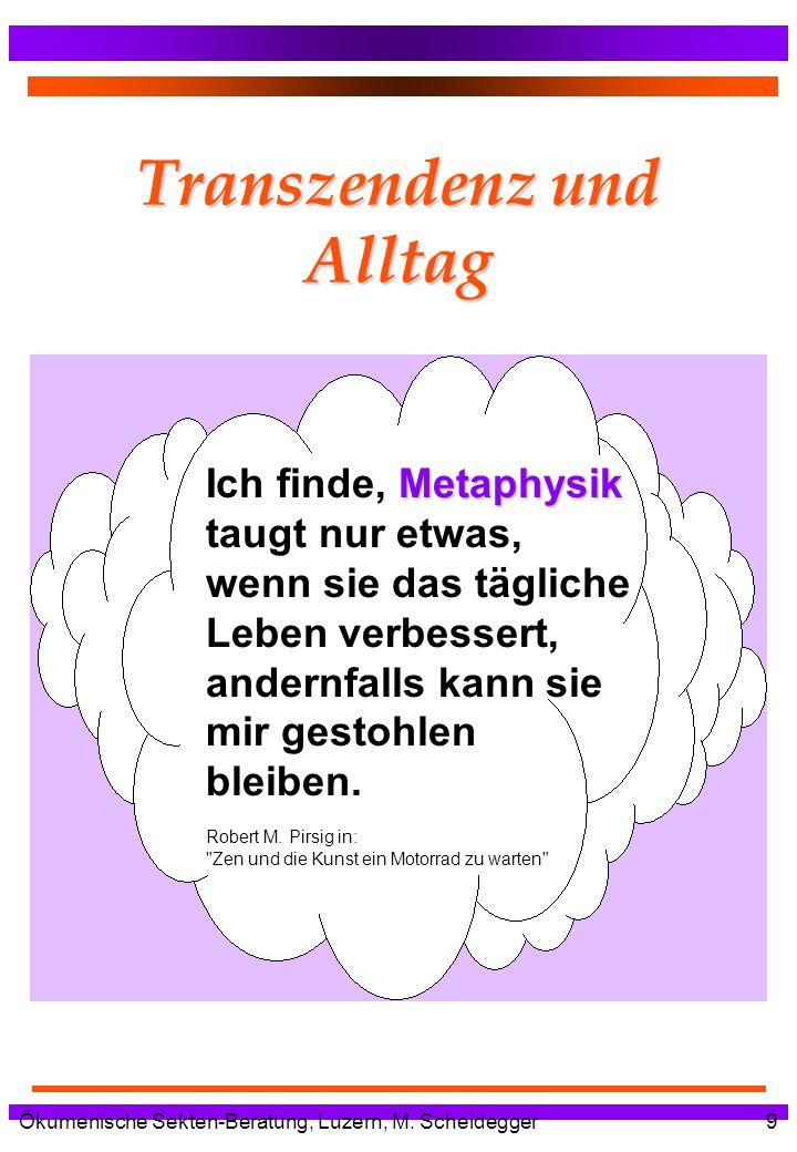 Transzendenz und Alltag