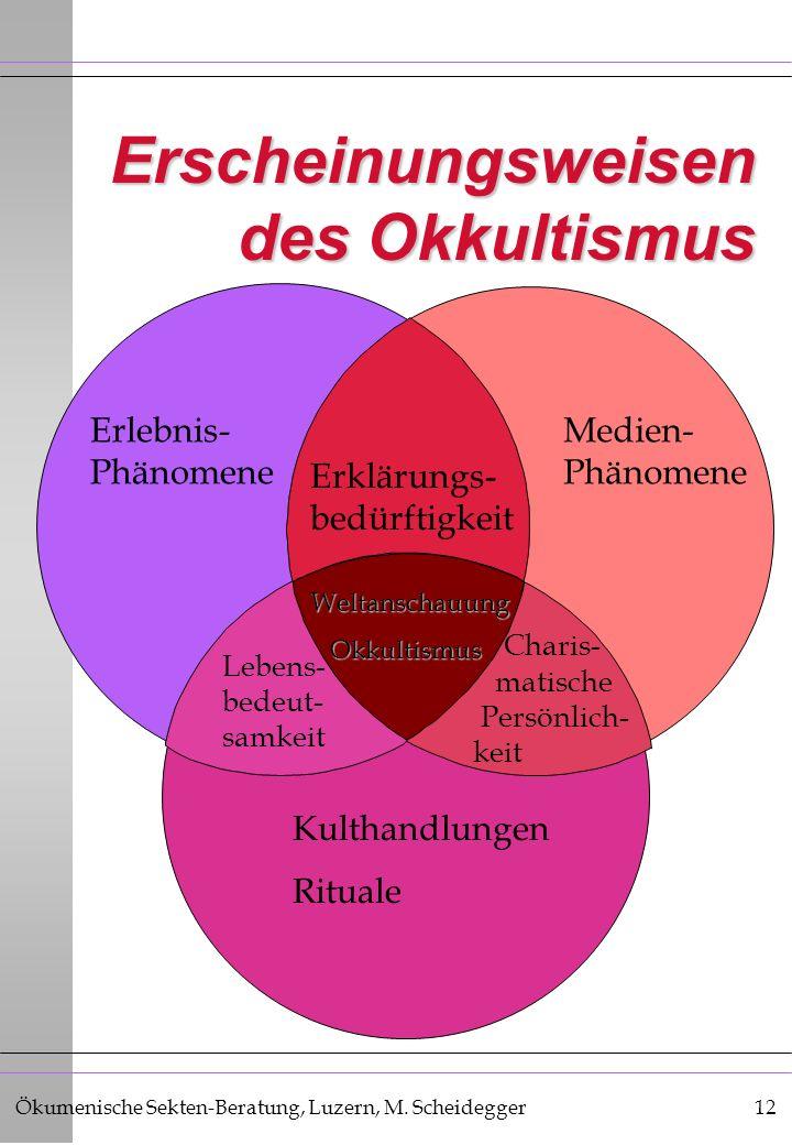 Erscheinungsweisen des Okkultismus