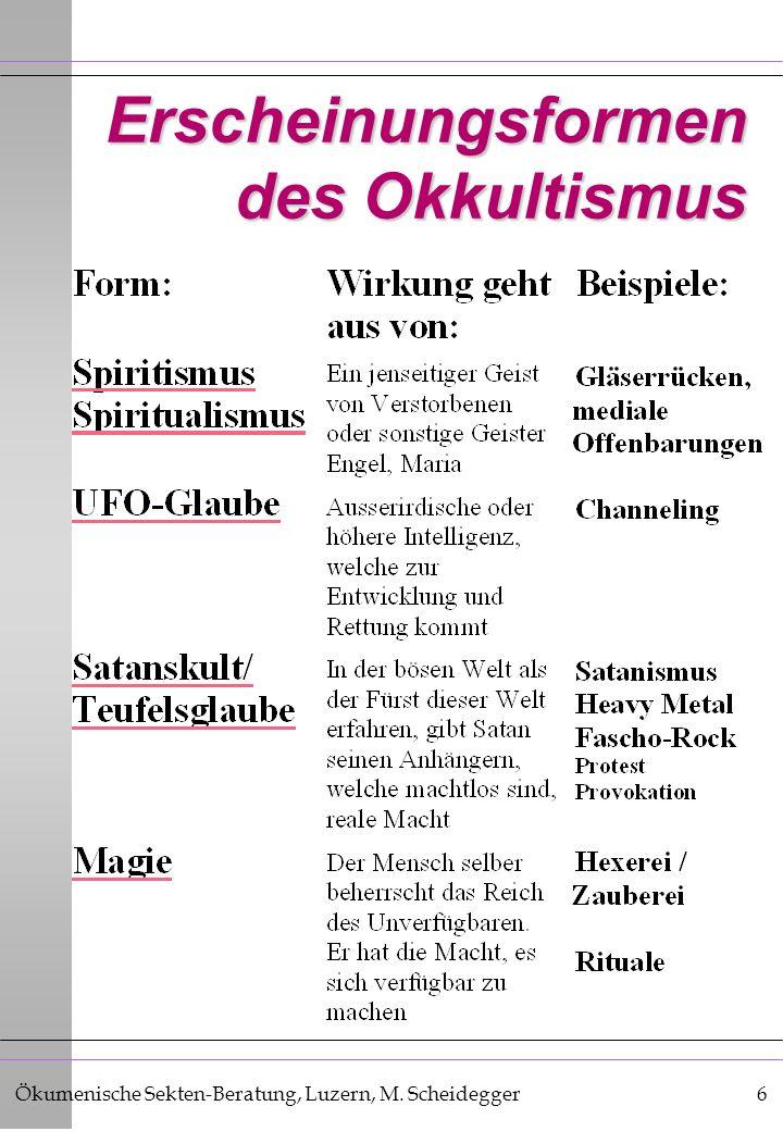 Erscheinungsformen des Okkultismus