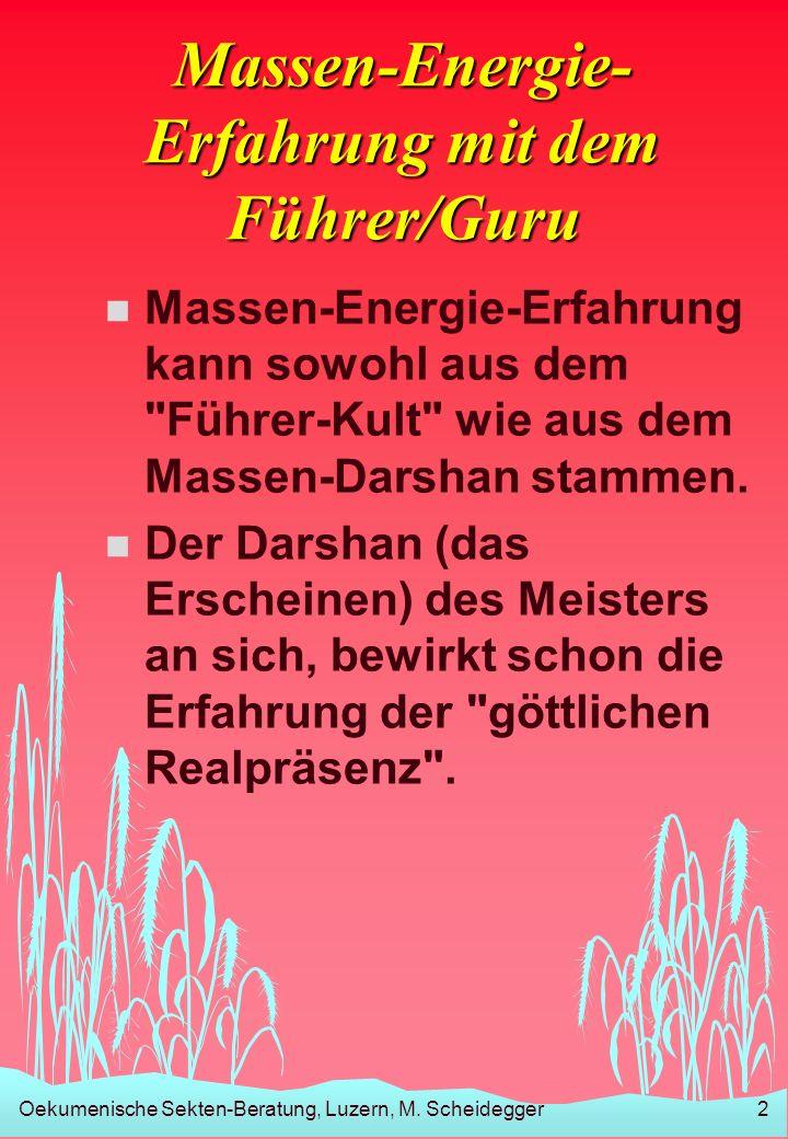 Massen-Energie-Erfahrung mit dem Führer/Guru