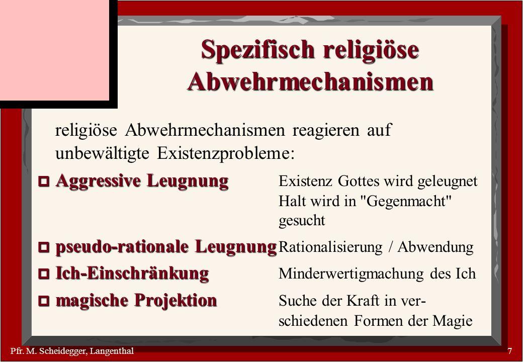 Spezifisch religiöse Abwehrmechanismen