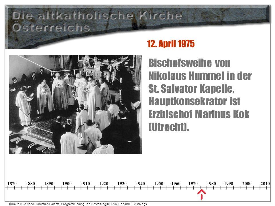 12. April 1975 Bischofsweihe von Nikolaus Hummel in der St.