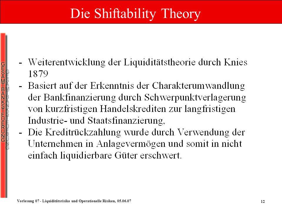 Die Shiftability Theory