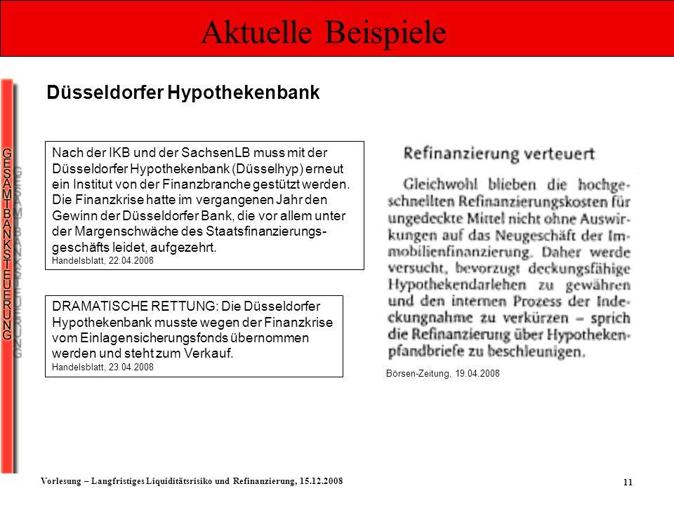 Aktuelle Beispiele Düsseldorfer Hypothekenbank