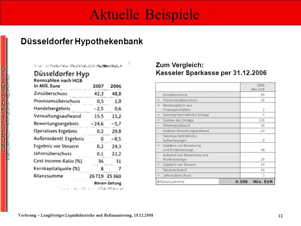 Aktuelle Beispiele Düsseldorfer Hypothekenbank Zum Vergleich: