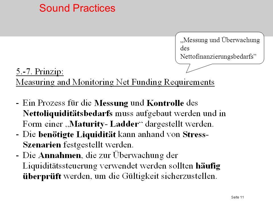 """Sound Practices """"Messung und Überwachung des Nettofinanzierungsbedarfs"""