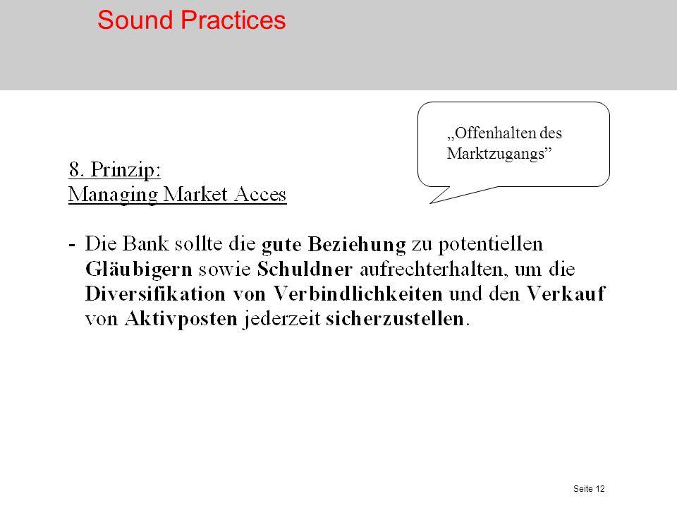 """Sound Practices """"Offenhalten des Marktzugangs"""