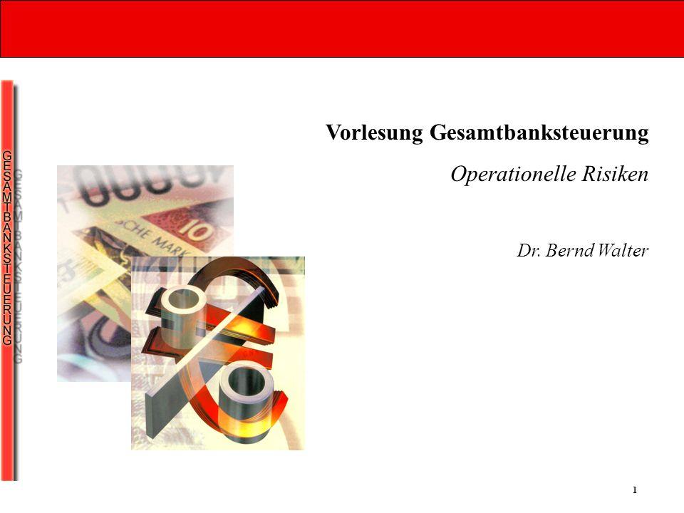 Vorlesung Gesamtbanksteuerung Operationelle Risiken