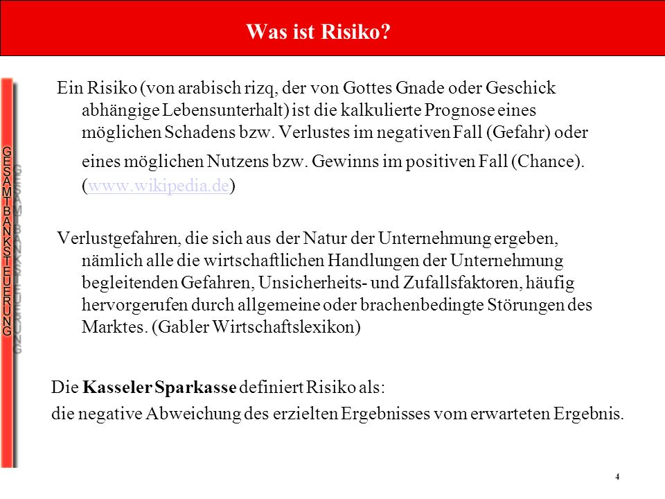 Was ist Risiko