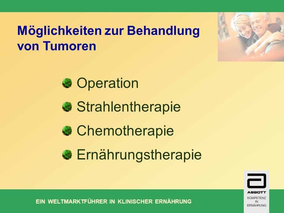 Operation Strahlentherapie Chemotherapie Ernährungstherapie