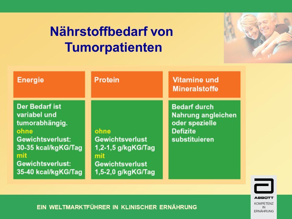 Nährstoffbedarf von Tumorpatienten