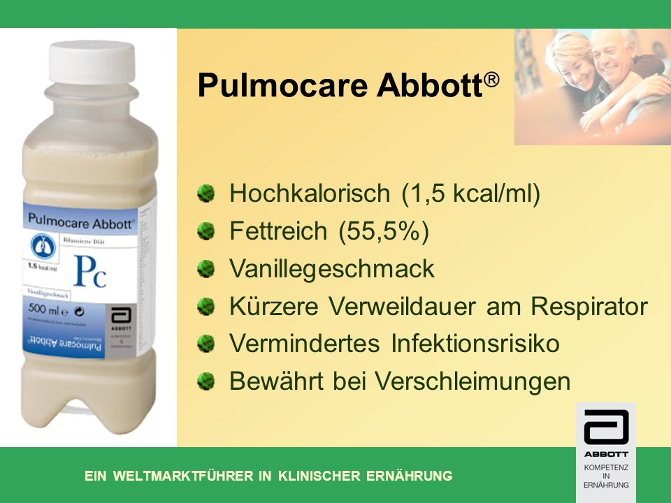 Pulmocare Abbott Hochkalorisch (1,5 kcal/ml) Fettreich (55,5%)