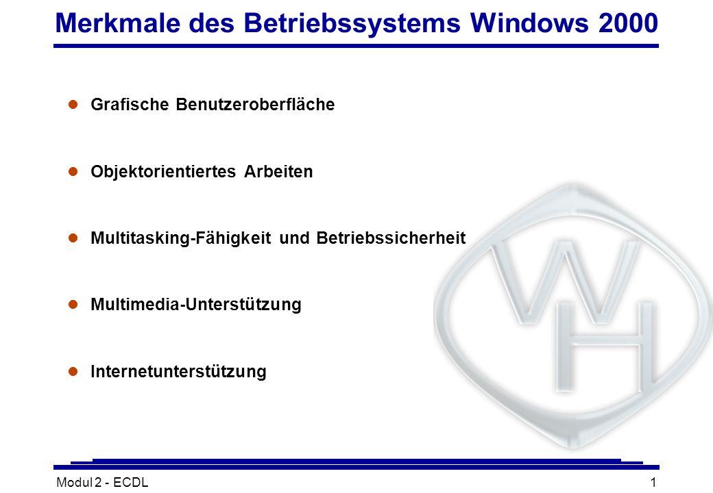 Merkmale des Betriebssystems Windows 2000