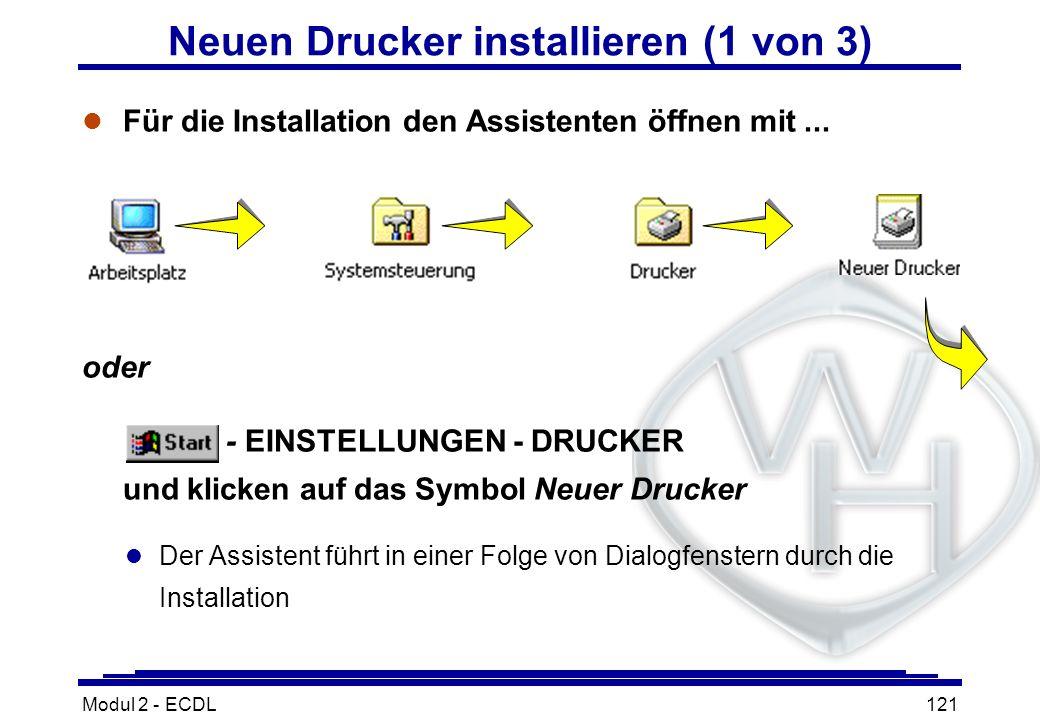 Neuen Drucker installieren (1 von 3)