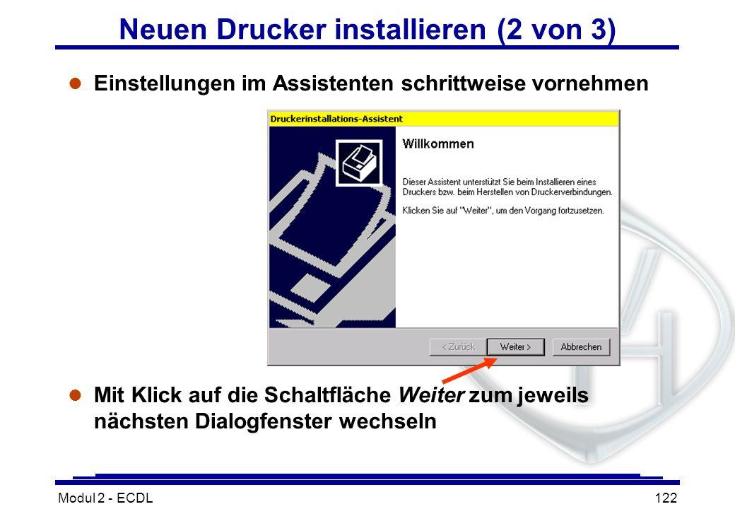 Neuen Drucker installieren (2 von 3)