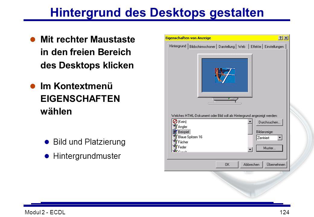Hintergrund des Desktops gestalten