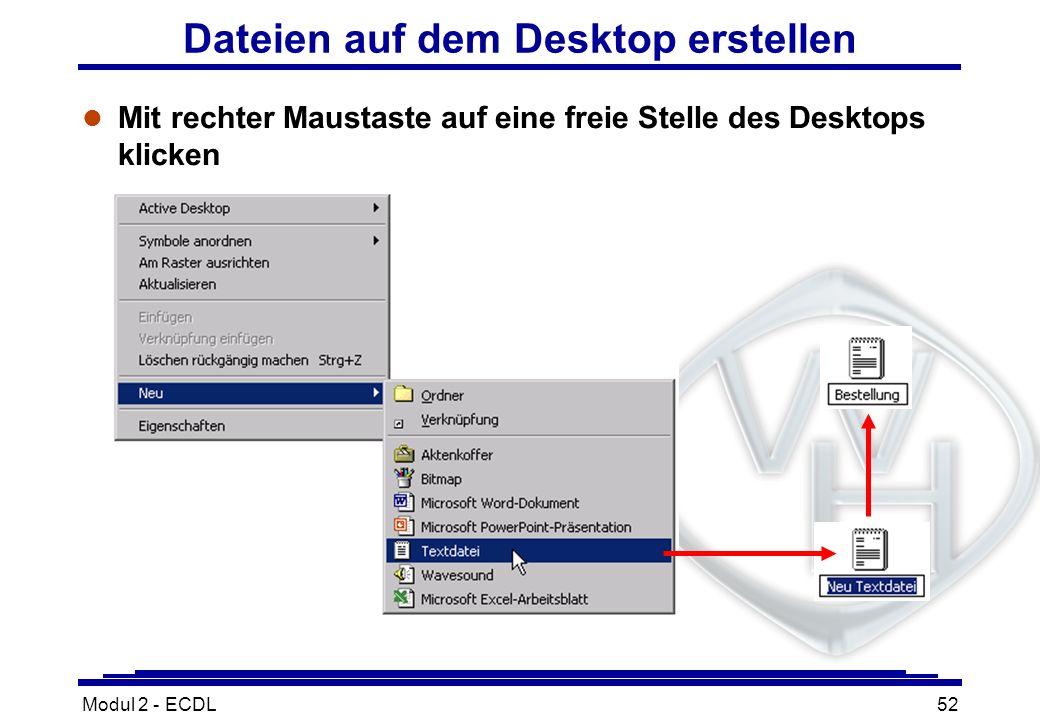 Dateien auf dem Desktop erstellen
