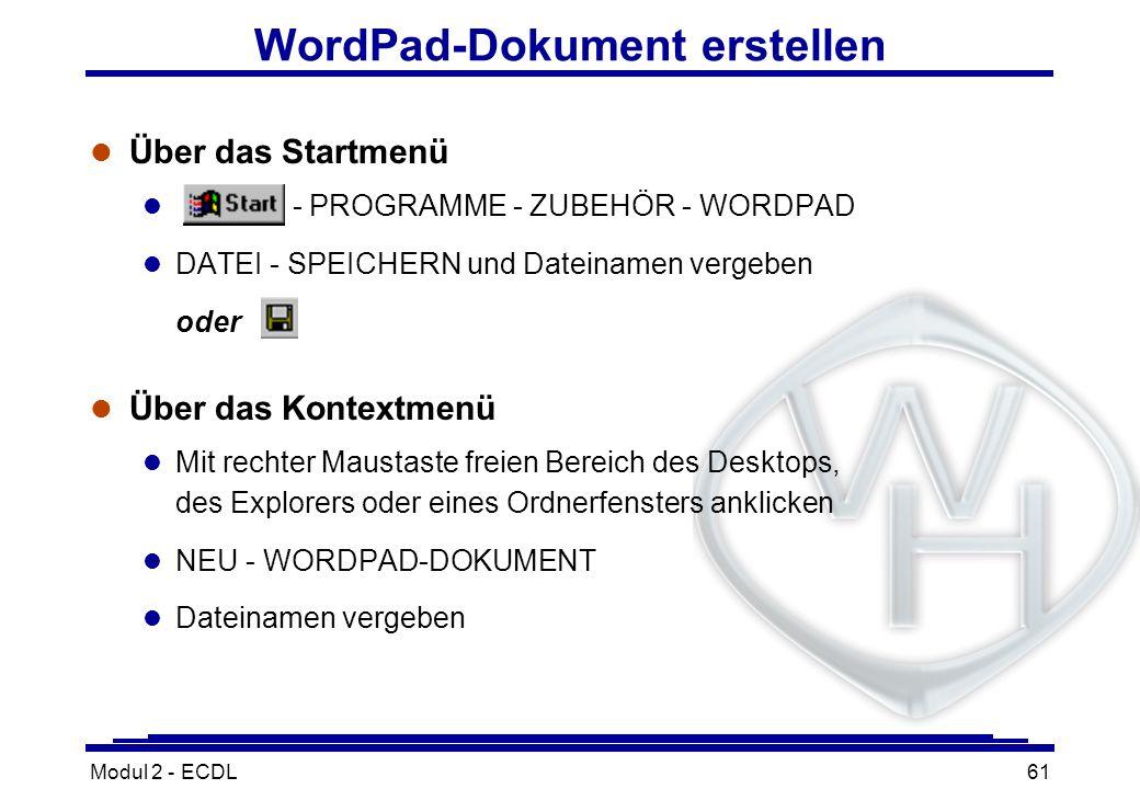 WordPad-Dokument erstellen